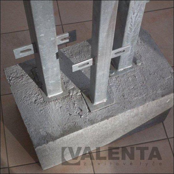 Słupki ogrodzeniowe przykręcane do betonu